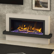 "Elgin & Hall Vardo 57"" Pryzm Electric Fireplace Suite, Cashmere & Anthracite"