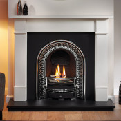 Gallery Brompton Limestone Fireplace with Regal Cast Iron Arch