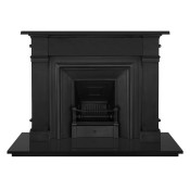 Carron Somerset Cast Iron Fireplace with Royal Cast Iron Arch Black