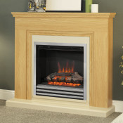 "Be Modern Stanton Natural Oak 46"" Electric Fireplace Suite"