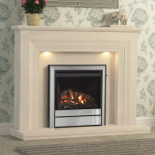 "Elgin & Hall Vitalia 52"" Limestone Fireplace Suite"