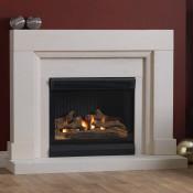 Burley Watersmeet Limestone Fireplace With Acumen Flueless Gas Fire