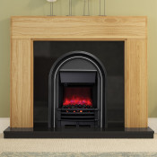 "Be Modern 52"" Whinfell Solid Oak Electric Fireplace"