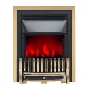 Valor Slimline Dimension Electric Fire with Alton Fret (0585001) Brass