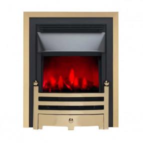 Valor Slimline Dimension Electric Fire with Bauhaus Fret (0585020) Brass