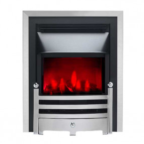 Valor Slimline Dimension Electric Fire with Bauhaus Fret (0585005) Chrome