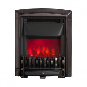 Valor Slimline Dimension Electric Fire with Excelsior Fret (0585052) Black Nickel