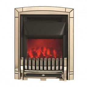 Valor Slimline Dimension Electric Fire with Excelsior Fret (0585062) Pale Gold