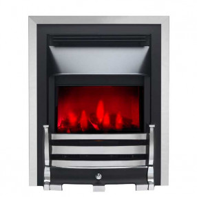 Valor Slimline Dimension Electric Fire with Downton Fret (0585014) Chrome