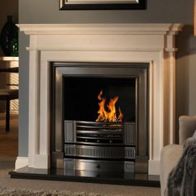 "58"" Penman Aversa Clara Pura Marble Fireplace Suite"