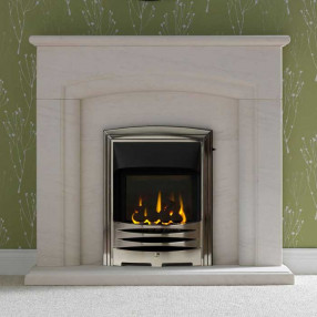 "Gallery Carlton 48"" Limestone Fireplace Suite"