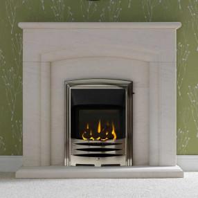 "Gallery Carlton 48"" Limestone Fireplace Suite"