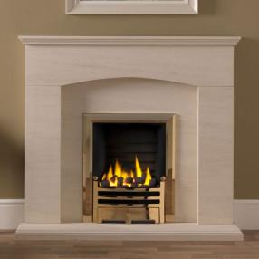 "Gallery Cartmel 48"" Portuguese Limestone Fireplace Suite"