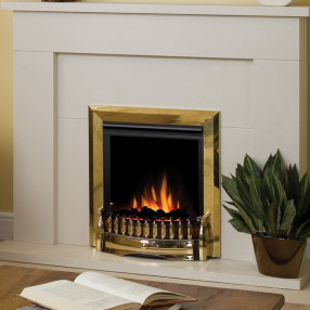 Dimplex Exbury Electric Fire in Brass