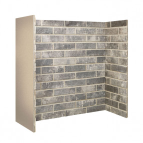 Gallery Grey Brick Fireplace Chamber
