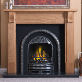 Gallery Bedford Timber Fireplace with Bolton Cast Iron Arch