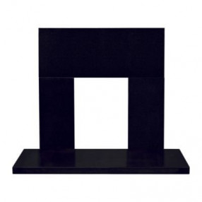 Black Granite Back Panel and Hearth