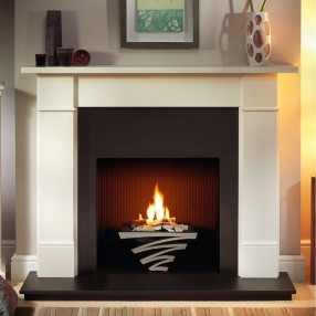 Gallery Brompton Limestone Fireplace Suite with optional Astra Fire Basket