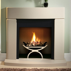"Gallery Clifton 42"" Jurastone Inglenook Fireplace"