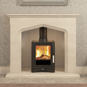 "Elgin & Hall Colwyn 54"" Inglenook Limestone Fireplace Suite"