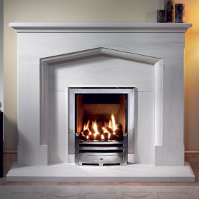 "Gallery Coniston 54"" Limestone Fireplace Suite"