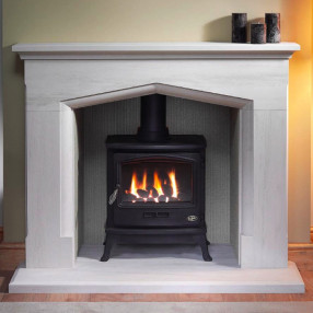 Gallery Coniston Stone Fireplace with optional Tiger Gas Stove