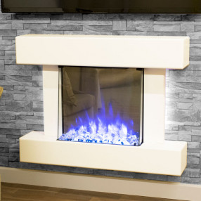 Katell Cosenza electric fireplace suite