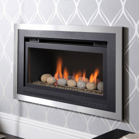 Crystal Florida Gas Fire - Pebble Fuel Bed