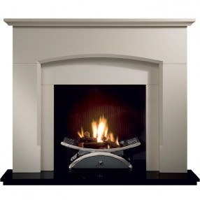 Gallery Dacre Stone Fireplace with optional Nexus Fire Basket