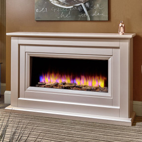 Katell Delfina electric fireplace suite
