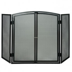 Deville 3 Panel Screen With Doors