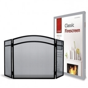 Deville 3 Fold Screen Classic Black