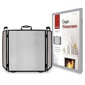 Deville 3 Fold Screen Cage Black