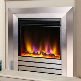 "Celsi Electriflame VR Acero 26"" Electric Fire Silver"