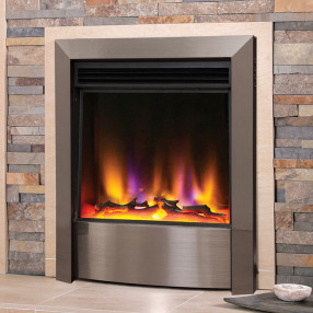 Celsi Electriflame VR Contemporary Electric Fire Satin Silver