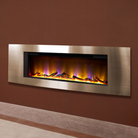"Vichy 40"" Wall Mounted Inset Electric Fire Champagne"