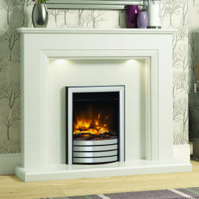 "Elgin & Hall Amorina 50"" Marble Fireplace Suite"