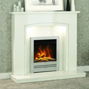 "Elgin & Hall Florano 48"" Marble Fireplace Suite"