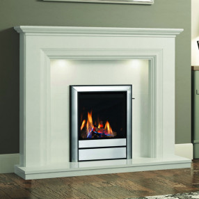 "Elgin & Hall Odella 54"" Marble Fireplace Suite"