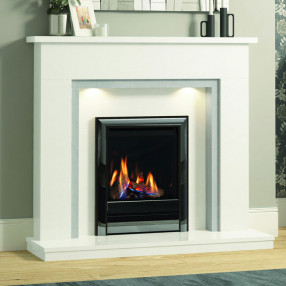 "Elgin & Hall Timara 48"" Marble Fireplace Suite"