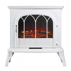 Ekofires 1250 Electric Stove In White With Arched Door