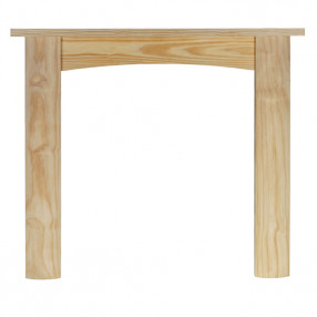 "Ekofires 7010 Unfinished Pine 48"" Fireplace Surround"
