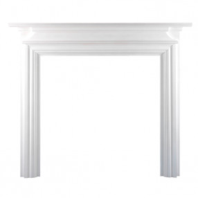 "Ekofires 7020 White Painted 44"" Fireplace Surround"
