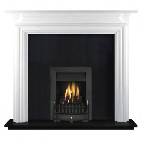 "Ekofires 7020 White Painted 44"" Fireplace Suite"