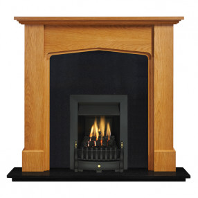 "Ekofires 7030 Oak Veneer 48"" Fireplace Suite"