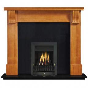 "Ekofires 7040 Waxed Pine 54"" Fireplace Suite"