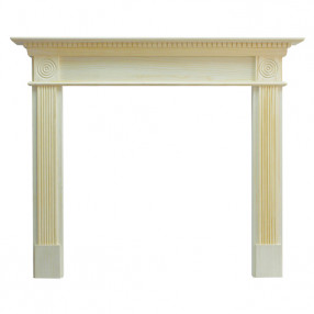 "Ekofires 7060 Unfinished Pine 54"" Fireplace Surround"