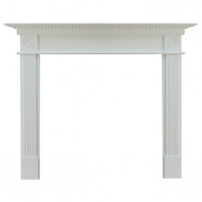"Ekofires 7060 White Painted 54"" Fireplace Surround"