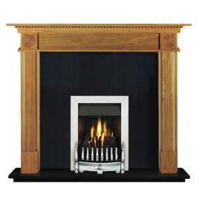 "Ekofires 7060 Oak Veneer 54"" Fireplace Suite"
