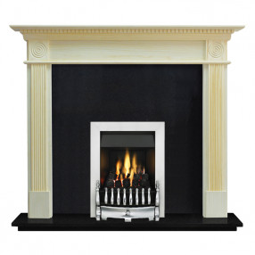 "Ekofires 7060 Unfinished Pine 54"" Fireplace Suite"